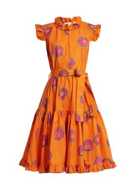 Short & Sassy Floral Print Cotton Dress by La Double J