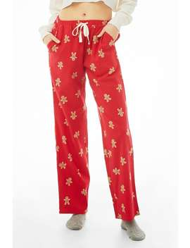 Gingerbread Print Pajama Pants by Forever 21