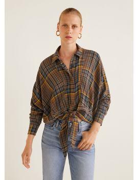 Рубашка с узлом by Mango