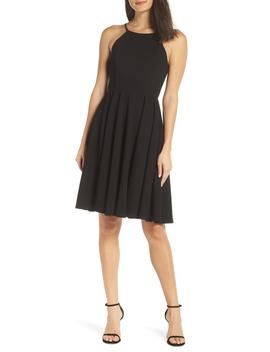 Halter Neck A Line Cocktail Dress by Lulus
