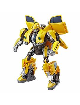 Transformers: Bumblebee Movie Toys, Power Charge Bumblebee Action Figure   Spinning Core, Lights And Sounds   Toys For Kids 6 And Up, 10.5 Inch by Transformers