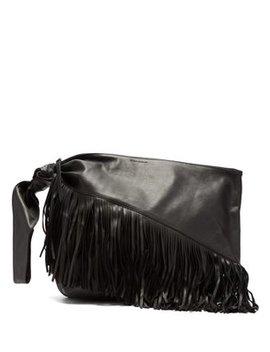Farwo Fringed Leather Bag by Isabel Marant