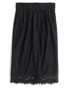 Lace Pintuck Pencil Skirt by J.Crew