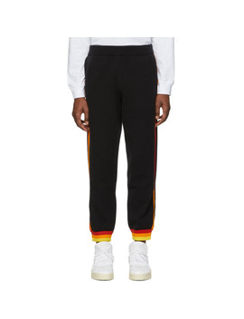 Black Striped Lounge Pants by Opening Ceremony