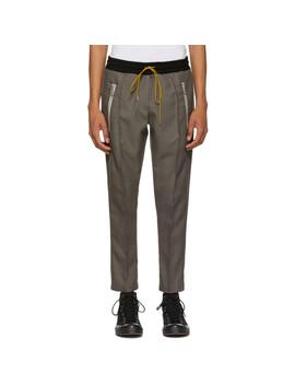 Grey Pinstripe Trousers by Rhude