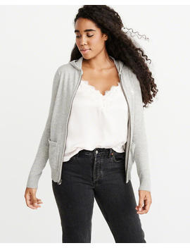 Full Zip Cashmere Hoodie by Abercrombie & Fitch