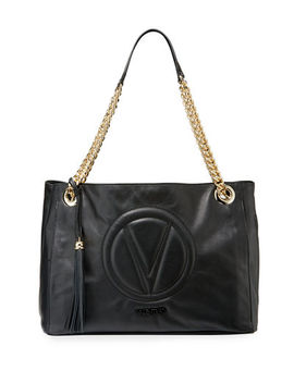 Verra Sauvage Leather Shoulder Tote Bag by Valentino By Mario Valentino