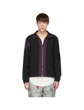 Black & Purple Classic Track Jacket by Pyer Moss