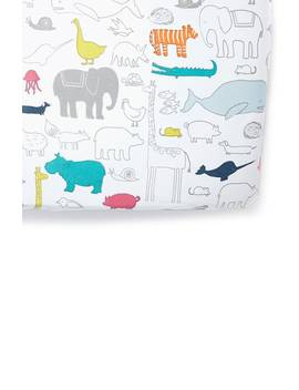 Noahs Ark Cotton Crib Sheet by Pehr