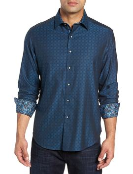 Diamante Classic Fit Print Sport Shirt by Robert Graham