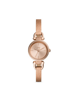Georgia Mini Three Hand Rose Gold Tone Stainless Steel Watch by Fossil