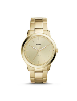 The Minimalist Three Hand Gold Tone Stainless Steel Watch by Fossil