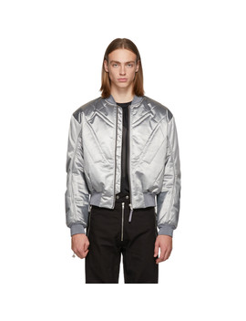 Silver Nico Bomber Jacket by Gmbh