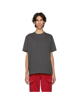 Grey 2 Pocket T Shirt by Johnlawrencesullivan