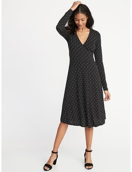 Fit & Flare Bracelet Sleeve Dress For Women by Old Navy