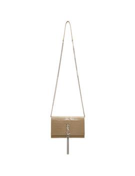 Beige Kate Wallet Bag by Saint Laurent