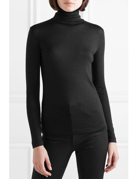 Cashmere And Silk Blend Turtleneck Top by Akris