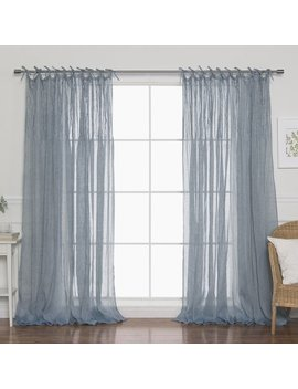 Best Home Fashion, Inc. Faux Pippin Linen Solid Sheer Rod Pocket Curtain Panels & Reviews by Best Home Fashion, Inc.