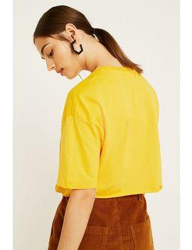 Fila Domenica Yellow Crop T Shirt by Fila