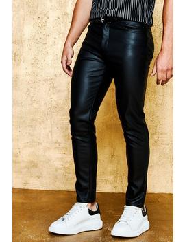 Skinny Fit Pu Trouser by Boohoo