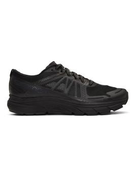Black Salomon Edition Sonic Ra Max Sneakers by Satisfy