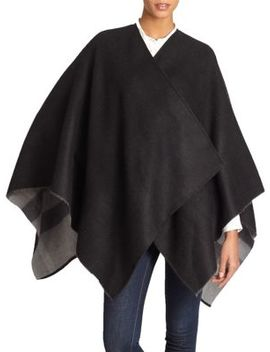 Charlotte Reversible Check Wool Cape by Burberry