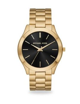 Slim Runway Goldtone Stainless Steel Bracelet Watch by Michael Kors