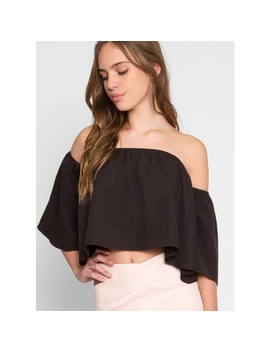 Flare Off Shoulder Top by Wet Seal
