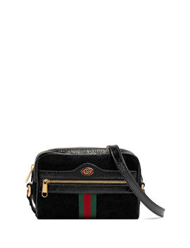 Ophidia Small Suede Crossbody Camera Bag by Gucci