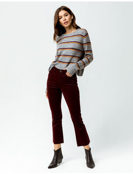 Rsq Sydney Crop Flare Fray Womens Corduroy Pants by Rsq