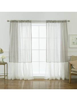 Highland Dunes Margery Solid Sheer Thermal Rod Pocket Curtain Panels & Reviews by Highland Dunes