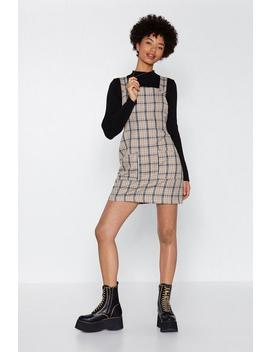Let's Take A Rain Check Pinafore Dress by Nasty Gal