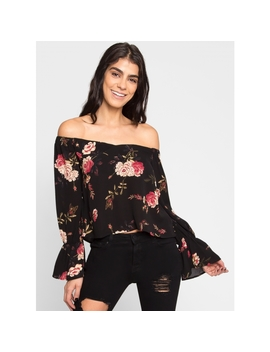 Jubilant Off Shoulder Floral Top by Wet Seal