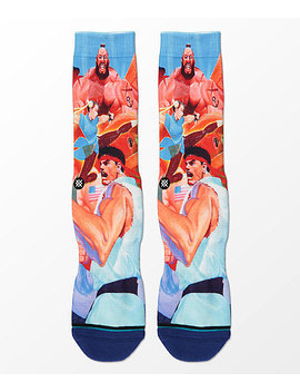 Stance X Street Fighter Ii Crew Socks by Stance