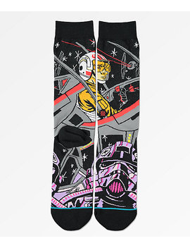 Stance X Star Wars Warped Pilot Black Crew Socks by Stance