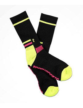 Psockadelic Slalom Black Crew Socks by Psockadelic