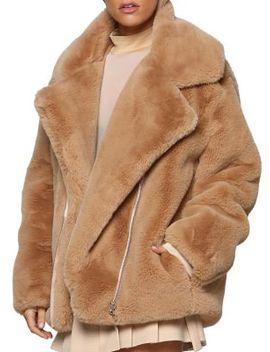 Fawkner Oversized Faux Fur Jacket by Tiger Mist