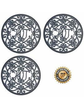 """Silicone Trivet Set For Hot Dishes 