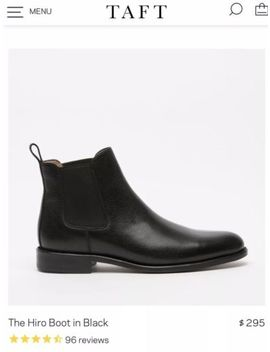Taft Chelsea Boots (Black) by Taft
