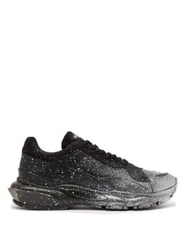 Bounce Raised Sole Low Top Leather Trainers by Valentino