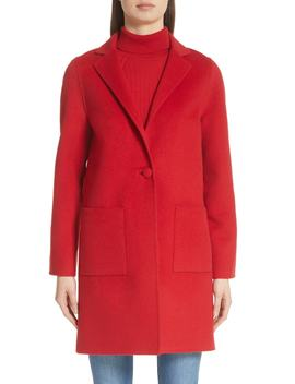 Wool Blend Double Face Coat by St. John Collection