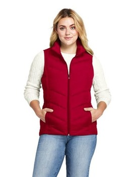 Women's Plus Size Down Vest by Lands' End