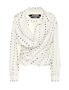 La Chemise Ourika Polka Dot Top by Jacquemus