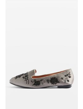Syrup Embroidered Slippers by Topshop