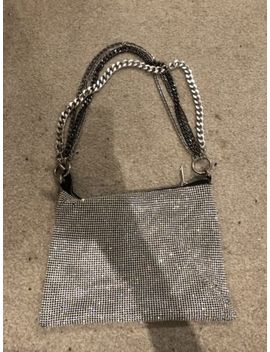 Topshop Diamanté Diamante Silver Bag With Chains by Ebay Seller