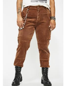 Whiskey Unimpressed Sis Corduroy Joggers by American Bazi