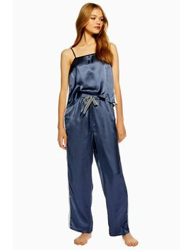Colour Block Satin Pyjama Trousers by Topshop