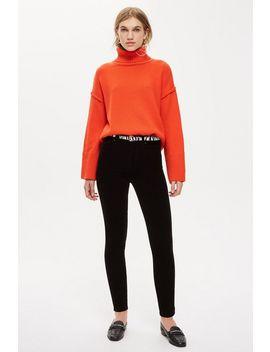 Black Corduroy Jamie Jeans by Topshop