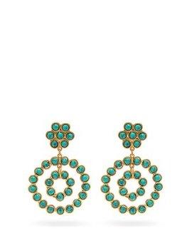 Beaded Hoop Earrings by Sylvia Toledano