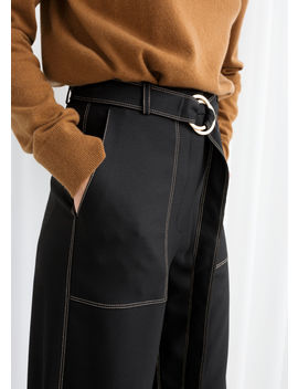 Belted Workwear Pants by & Other Stories